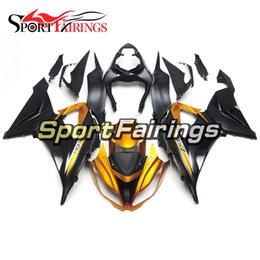 Chinese  Injection Fairings For Kawasaki Ninja ZX-6R ZX6R 636 13 14 2013 2014 Sportbike ABS Motorcycle Fairing Kit Bodywork Cowling Black Gold Carene manufacturers