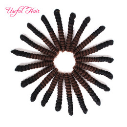curl hair braiding UK - TINY CUTE CURLY 6MM DIAMETER 10INCH,20INCH crochet braids hair CURL kanekalon SMALL TIGHTEST CURL synthetic braiding crochet hair extensions