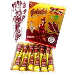 12X хна временные татуировки красный цвет натуральный Golecha Индия травяные чернила Mehandi для боди-арт живопись татуировки поставки