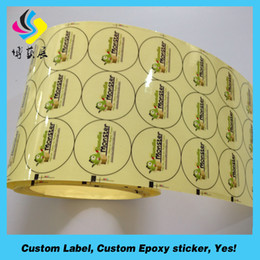 Round Stickers Roll Australia - 2018 new products for Transapernt circle pvc sticker label roll , round sticker label printing in roll