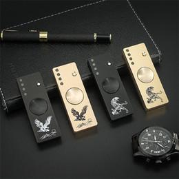 $enCountryForm.capitalKeyWord NZ - Newest Hand Spinner LED Flash Light USB Charge Cigar Lighter Fidget Spinner EDC Toys Zinc Alloy Decompression Finger Gyro Toys