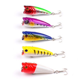 poper lures Canada - Hot selling 5Colors PS Painted Bionic ABS Plastic Popper fishing lure 6cm 6.6g Fly fishing poper crankbait for bass fishing