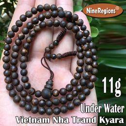 Vietnam White NZ - 11g 5mmx108pcs investment collection Sinking under water Genuine natural Vietnam Nha Trang white Kyara agarwood beads bracelet necklace