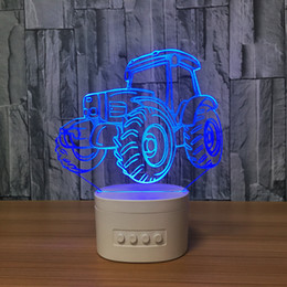 card figures NZ - 3D Truck LED Lamp Speaker 5 RGB Lights USB Charging Bluetooth Speaker TF Card Wholesale Dropshipping