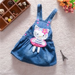 year old child skirt Canada - 0 to 3 years old baby girl even braces skirt Children spring, summer, autumn outfit denim suspenders skirt manufacturer for sale