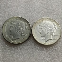 two face coin UK - US head-to-head 1934 Peace Dollar Two face Copy Coin - Free Shipping