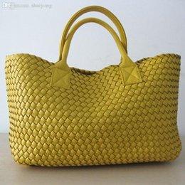 Venta al por mayor de Nice-Large WOVEN CABAT Bolso de mujer de cuero sintético Premium Messenger Bags Tote Bolsa Feminina 21 colores bolsos BR65
