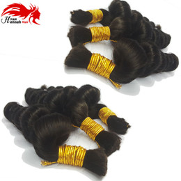 loose braiding hair NZ - Buy 3Lot Get 1FREE 16''Loose Brazilian Hair Loose Wave Human Hair Bulk For Braiding 50g Human Natural Wave Bella Hair Beautiful