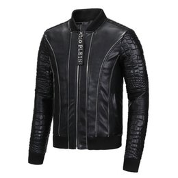 Barato Jaqueta De Couro Leve Xl-2017 New Arrival Hot Sale Special PP Men's Leather V Jacket Black Autumn Winter Light Jacket Online Out Factory Frete Grátis