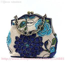Super quality Handmade Shoulder Bag Ladies' Linen Beaded tote Handbag Evening Bag Shopping Bag 20089 on Sale