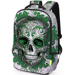 $enCountryForm.capitalKeyWord NZ - Metal skull backpack Flower decorative daypack Picture schoolbag Casual rucksack Sport school bag Outdoor day pack