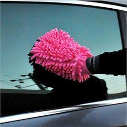 Chenille Towels Wholesale Canada - 2017 Car Hand Soft Cleaning Towel Microfiber Chenille Washing Gloves Coral Fleece Anthozoan Car Sponge Wash Cloth Car Care Cleaning XL-G109