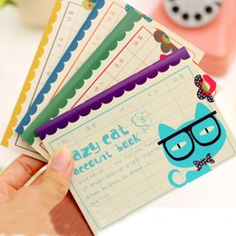 notepad cats Australia - Wholesale- Cute Cat Planner Kawaii Pocket Mini Small Personal Diary Note School Notebooks And Journals Paper Books School Office Supplies