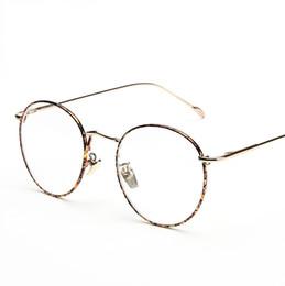 b9d4b6f19d Wholesale- New Designer Woman Glasses Optical Frames Metal Round Glasses  Frame Men Clear lens Eyeware Black Gold Pattern Eye Glass