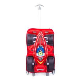 Детский багаж, 17,7-дюймовый 3D гоночный автомобиль дизайн детская тележка ручной клади-идеальный подарок для детей