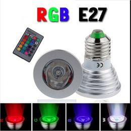 Mr16 energy saving bulbs online shopping - Hot Energy Saving W E27 GU10 MR16 RGB E14 LED Bulb Lamp light Color changing IR Remote mini order