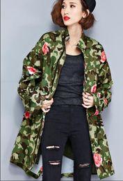 $enCountryForm.capitalKeyWord Canada - Plus Size Women Jacket Autumn Coat Camouflage Floral Print Windbreaker O-Neck Fashion Outerwear Zipper Green Jacket Big Size 4XL