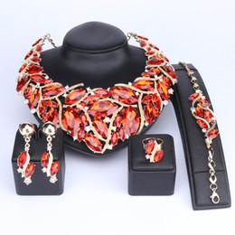 $enCountryForm.capitalKeyWord NZ - Fashion Indian Jewellery Bohemia Crystal Necklace Sets Bridal Jewelry Brides Party Wedding Accessories Decoration