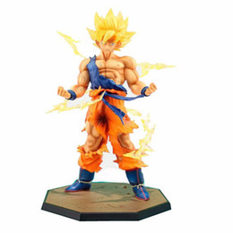 China Japan Hot Sales Anime 18CM dragon ball z Son Goku action figures Super Saiyan PVC Collectible Toy model for Birthday Gift cheap figure hot toy suppliers