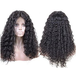Kinky Curly Human Hair Afro Wigs Australia - Lace Front Human Hair Wigs Afro Kinky Curly Natural Color Brazilian Remy Hair Lace Wigs For Black Women With Baby Hair