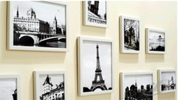 cheap box frames Canada - Wholesale Cheap 11 photo frame combination wall frame wall fashion environmental protection box creative home frame wall