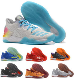 Chaussures Authentiques Chine Pas Cher-2017 Derrick Rose 7 Chaussures de basket-ball Low NMD Boost Men Man Sports Chaussures blanches Chine Marque Zapatillas Deportivas Homme Authentic Sneakers