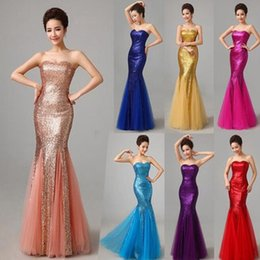 long prom dresses fast delivery 2019 - Fashion Fabulous Fast Delivery Dark Salmon Purple Long Mermaid Prom Dresses Sweetheart Sequins Party Maxi Dress For Wome