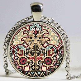 $enCountryForm.capitalKeyWord Canada - Aztec Neo-Victorian Steampunk Necklace Art Picture Great Painting Pendant Fashion Glass Cabochon Women Men Jewelry Gift Chain
