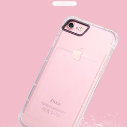 Clear Gel Iphone Cases NZ - Shockproof Transparent Cell Phone Back Case Clear Ultral Thin Soft Tpu Clear Cover Gel Rubber Bulky Protective Corner for Iphone 6 7 6s plus