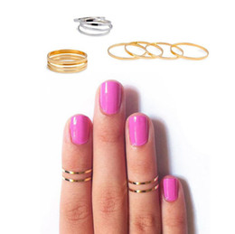 Christmas Gift Nails Australia - New Arrival Women Band Midi Ring Urban Gold stack Plain Cute Above Knuckle Nail Ring Christmas Gift