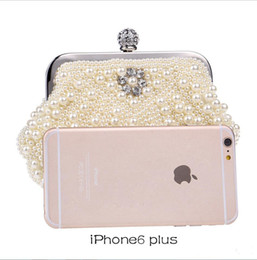 Discount bags chain handles - In Stock Bling Bling Black White Beaded Pearls Clutches Double Handle Bridal Hand Bags Evening Party Prom Crystals Speci