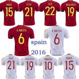 ... Spain Euro Soccer jersey 2017 INIESTA RAMOS home red away white  FABREGAS COSTA SILVA ISCO VAXI Turkey Euro 2016 ... 3e21b09f0