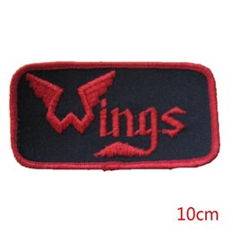 Parches De Banda Baratos-Nueva llegada Vintage Wings Band hierro bordado en Patch