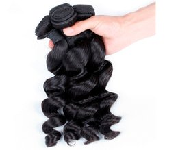 China Grade 8A!!! indian Hair Weave weft loose Wave Hair Double Weft No Shedding NO Tangle Durable 3 pcs  lot suppliers