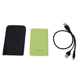 Chinese  Wholesale- USB 2.0 2.5 Inch IDE HD Hard Disk Drive HDD External Case Enclosure Box up 500GB For Mac OS Notebook Laptop PC Wholesale Price manufacturers