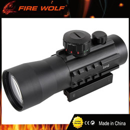 11mm mounts online shopping - FIRE WOLF x42 mm mm Rail Mounts Tactical Riflescope Sight Scope Hunting Holographic Green Red Dot Optical Telescopic