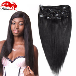 26 7a grade hair NZ - Double Weft 100% Remy Human Hair Clip in Extensions 10''-26'' Grade 7A Quality Full Head Thick Long Soft Silky Straight 8pcs for Wom