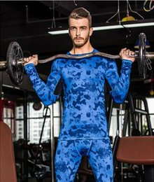 Camo Tights Men Pas Cher-New Camouflage Military T-shirt Bodybuilding Tights Fitness Homme Dry Dry Camo T-shirt à manches longues Chemise à compression