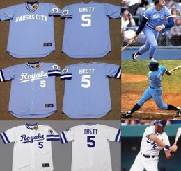 3aa9c342049 ... 5 George Brett Cooperstown Throwback Jersey Mens Kansas City Royals  1980 1985 George Brett Throwback Baseball ...