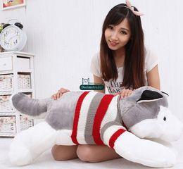 $enCountryForm.capitalKeyWord Canada - Dorimytrader Hot Item 100cm Big Simulated Animal Husky Dog Plush Toy 39'' Giant Cartoon Dogs Stuffed Doll Pillow Baby Present DY61538