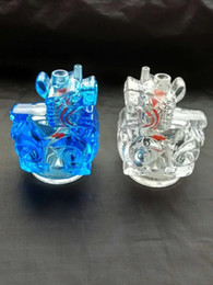 Acrylic Water Pipe Wholesale Canada - Multicolor cartoon pattern Hookah Acrylic  , Glass Water Pipe Smoking Pipes Percolator Glass Bongs Oil Burner Water Pipes Oil Rigs Smoking