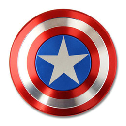 Captain ameriCa shield hand spinner online shopping - Creative Captain America Shield Hand Spinner Iron Man Fidget Spinner Alloy Puzzle Toys EDC Autism ADHD Finger Gyro Toy Adult Gifts