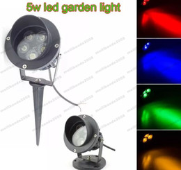 NEW 5X1W High Power LED Path Spot Light With Base Or Spike LED Lawn Spike  Light LED Inground Flood Light FREE SHIPPING MYY