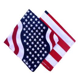 Оптовая американский флаг площади, печатных шарф, полиэстер и хлопок печати большой платок, площадь Флага, бесплатная доставка