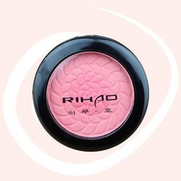 Barato Cores Mágicas Cosméticos-Atacado-1PC Brand Makeup Face Cake Blush Powder Magic 2 cores Cheek color Blusher Dream Sweet Cheek Blush Paleta com escova Cosméticos