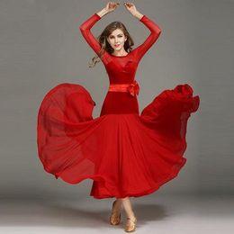 $enCountryForm.capitalKeyWord Canada - Women Dance Dress Standard Ballroom Competition Dresses Costumes For Women Big Swing Tango Waltz Dancewear 2017 Modern Dance Dress FN159