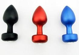 Metal Rosebud Plug Australia - New Sex toys Metal Butt Plug Rosebud Anal Jewelry Anal Plug jeweled plug Large Size 40mm Metal Dildo Sex Products for woman Man
