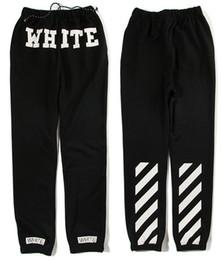 off white c o virgil abloh 16ss men sweatpants male casual sweatpants trousers striped jogger pants hip hop offwhite sweatpants