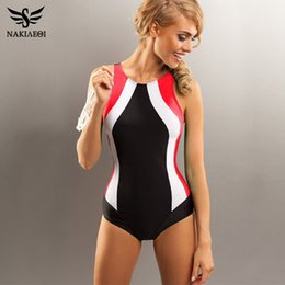 4346a9bb4c5 NAKIAEOI 2017 Professional Swimwear One Piece Swimsuit Women Backless Monokini  Swimsuit Sport Bodysuit Beach Bathing Suit Swim