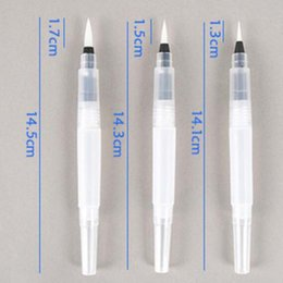 $enCountryForm.capitalKeyWord Canada - Refillable 3 Pcs set Water Brush Ink Pen for Water Color Calligraphy Kid Painting Writing Illustration Pen Office Stationery Material Escol